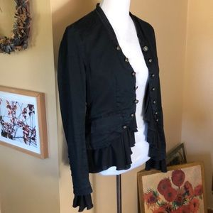 FREE PEOPLE size Small Romantic Military OpenFront